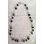 39B-Collier perles polaris noires et grises