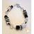 41-Bracelet perles polaris noires et grises- au coeur des arts