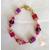 40-Bracelet perles polaris rose et parme-  au coeur des arts