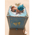 2-Tirelire bébé fille - fée clochette Bleue - au coeur des arts