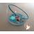 25C-Veilleuse Sirène dans sa bulle rose et bleue - au coeur des arts