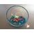 25D-Veilleuse Sirène dans sa bulle rose et bleue - au coeur des arts
