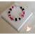 49-Bracelet Mélusine fuschia et noir - au coeur des arts
