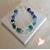 50-Bracelet Emeraude bleu vert- au coeur des arts