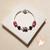 57-Bracelet élégance rose argent- au coeur des arts