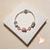 58-Bracelet élégance rose pâle argent - au coeur des arts