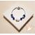 59-Bracelet élégance bleu argent - au coeur des arts