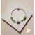 61-Bracelet élégance vert argent- au coeur des arts