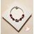 62-Bracelet élégance rouge argent- au coeur des arts