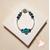 64-Bracelet tubes argentés bleu turquoise- au coeur des arts