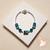 65-Bracelet élégance Lagon argent- au coeur des arts