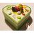 30b-Boîte de naissance bébé fille créole verte et jaune - au coeur des arts