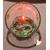 33C-Veilleuse Sirène dans sa bulle verte et rose - au coeur des arts