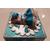 7B- Tirelire bébé fille turquoise et blanche - au coeur des arts