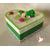 43B-Boîte de naissance verte et blanche bébé garçon - au coeur des arts