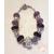 74-Bracelet violet parme style pandora- au coeur des arts