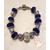 67-Bracelet bleu dur style pandora- au coeur des arts