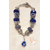 69-Bracelet bleu roi style pandora- au coeur des arts