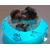 47c-Veilleuse galet lumineux bébé garçon shun gris- au coeur des arts