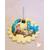 6-Porte bougie bébé garçon vanille et turquoise - au coeur des arts