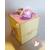 26c-Tirelire bébé fille arc en ciel- au coeur des arts