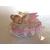 2D-Marque place bébé fille fée clochette rose baptème - au coeur des arts