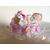 3B-Marque place bébé fille rose avec son ours baptème - au coeur des arts