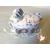 4D-Marque place bébé fille gris avec son ours baptème - au coeur des arts