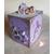 28-Tirelire bébé fille lilas avec son ours- au coeur des arts