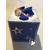 32B-Tirelire bébé garçon rugbyman bleu - au coeur des arts