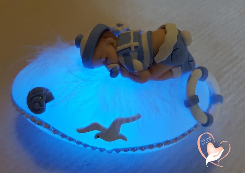 Veilleuse Bebe Garcon : veilleuse galet lumineux b b gar on petit marin cadeaux de naissance au coeur des arts ~ Teatrodelosmanantiales.com Idées de Décoration