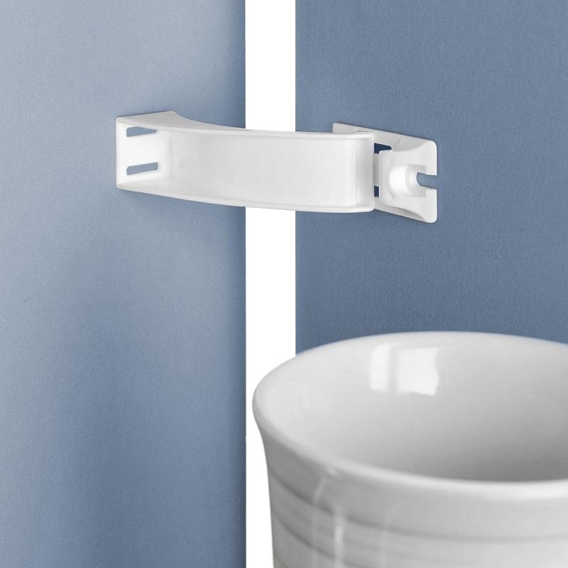 loquet de s curit blanc contr le acc s placards et tiroirs garalabosse. Black Bedroom Furniture Sets. Home Design Ideas
