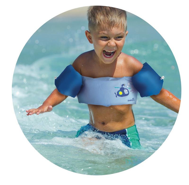 Ceinture brassard 2 en 1 bleu 2 6 ans baignade for Brassards piscine