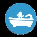 Sécurité bain et douche des bébés et des enfants