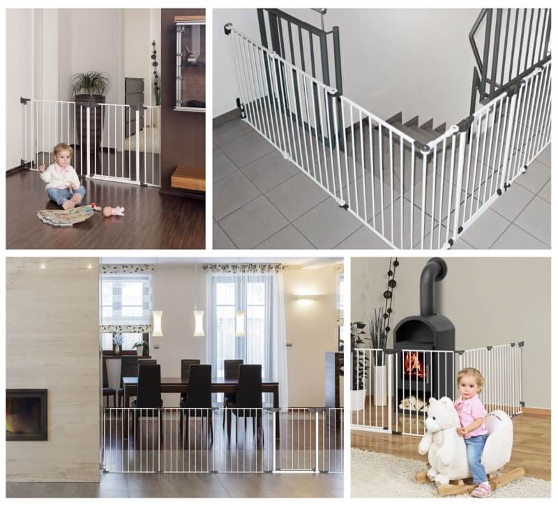 Barriere Securite Bebe Escalier Colimacon Angle Grande