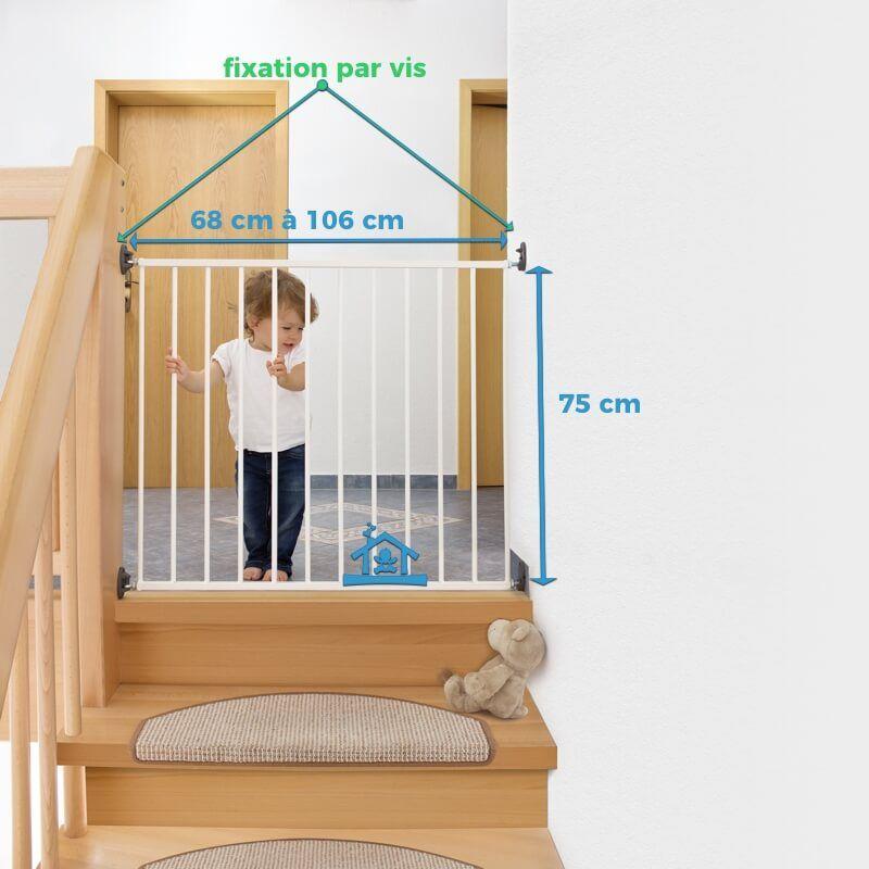 barriere de securite escalier sans vis awesome barriere. Black Bedroom Furniture Sets. Home Design Ideas