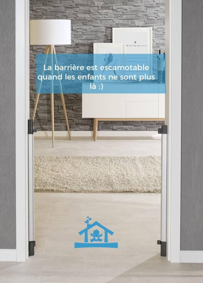 barri re de s curit design en bois porte escalier escamotable. Black Bedroom Furniture Sets. Home Design Ideas