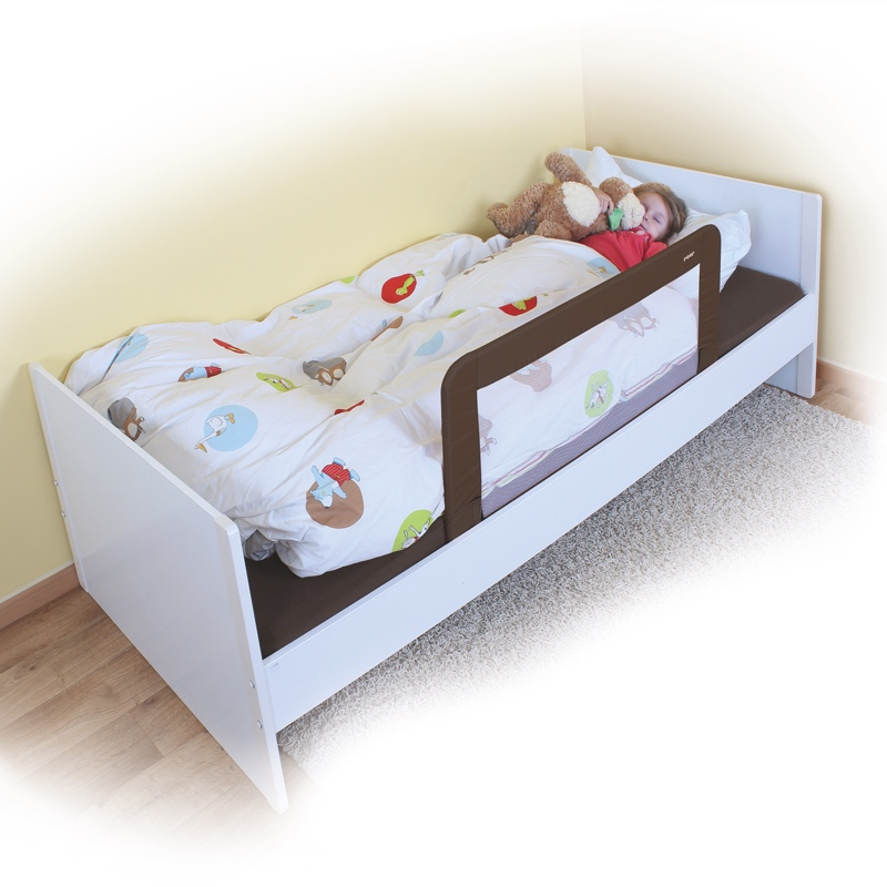 Barri re de lit pliable xl abaissable s curit du couchage - Barriere protection lit enfant ...