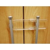 Cadenas pour placard à porte double transparent
