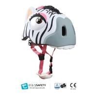 Casque de vélo enfant Zèbre CrazySafety Taille S 49-55 cm