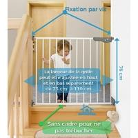 Barrière de Sécurité Enfant à Visser Extensible - Métal
