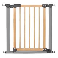 Barrière de sécurité sans vissage I Gate Active Lock, cadre métal, porte en bois