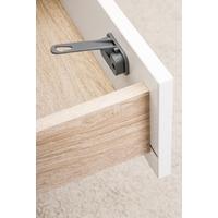 Loquet de sécurité pour porte de placard et tiroirs, Designline, anthracite