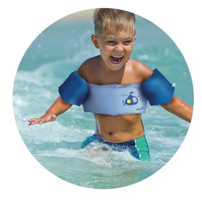 ceinture brassard 2 en 1 bleu 2 6 ans baignade