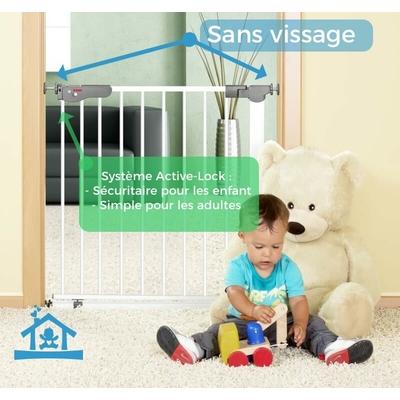 Barrière de Sécurité enfant sans vis porte avec cadre métal_YAPA-PA-021