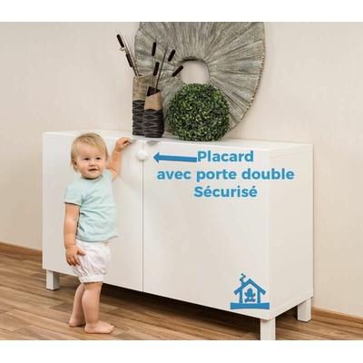 bloque placard porte double s curit enfant contr le acc s. Black Bedroom Furniture Sets. Home Design Ideas