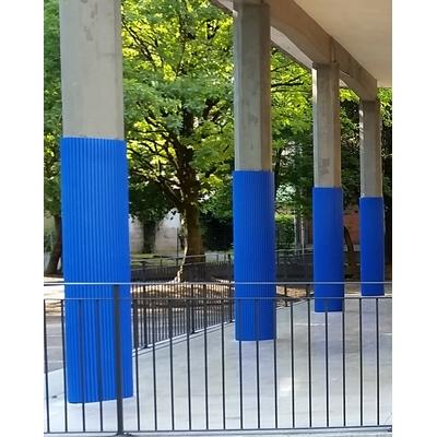 Pillar Wall Guard - Blue on pilllars