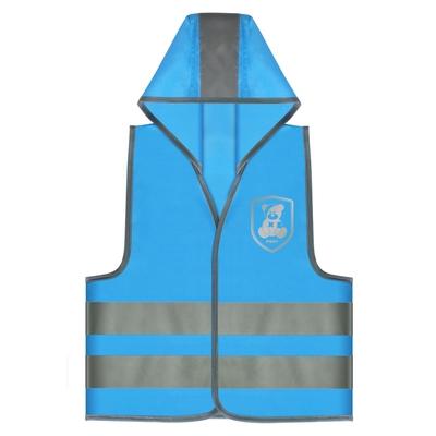 gilet sécurité routière enfant bleu plusieurs zone réfléchissantes_yapa_pc_004