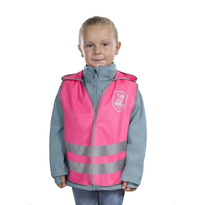 gilet sécurité routière enfant rose de face_yapa_pc_005
