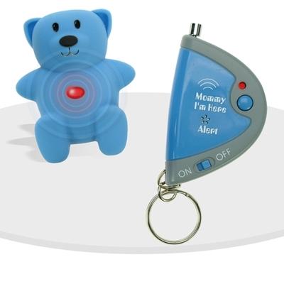 Ensemble ourson teddy tag bleu avec unité parentale